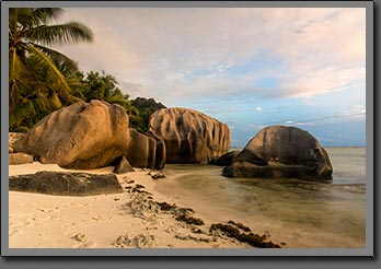Anse source d argent sunset