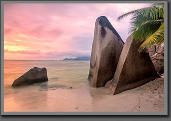 Anse source d'argent sunset 2