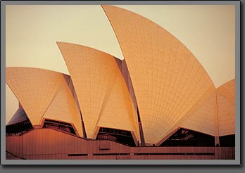 sunset at opera house